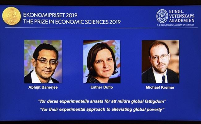भारतीय मूल के अर्थशास्त्री अभिजीत बनर्जी समेत तीन को नोबेल पुरस्कार