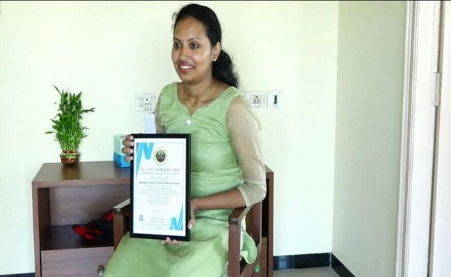 Mangaluru Student Enters India Book Of Records For Making Longest Gift Item