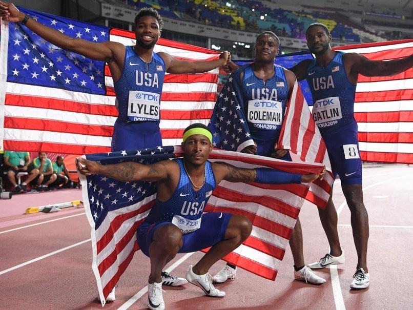 "World Athletics Championships: Justin Gatlin Joy As US Lift Relay ""Curse"""