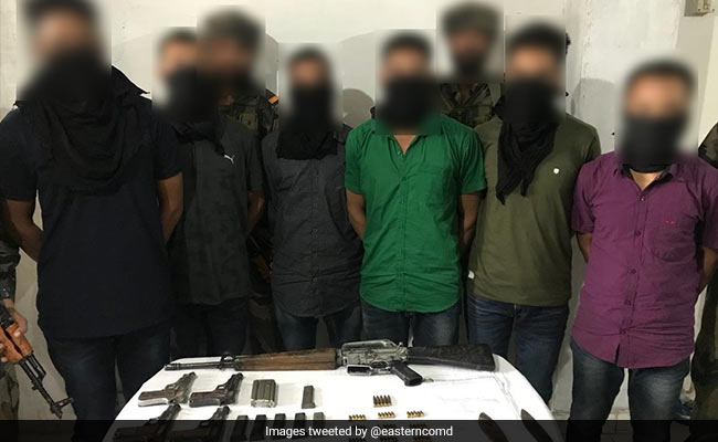 6 Bodoland Militants Caught In Assam; M16 Rifle, Other Weapons Recovered