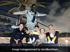 """Pretty Sick"": David Beckham's Children See His Statue For The First Time"