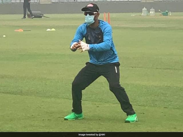 India vs Bangladesh: Amidst pollution concerns Liton Das trains wearing a mask