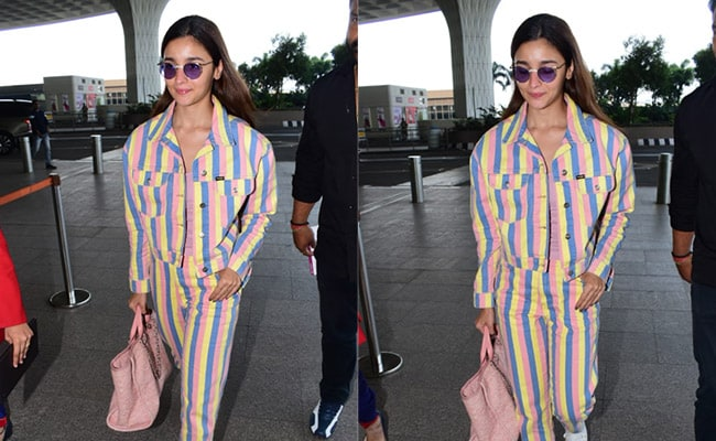 Alia Bhatt Takes To Candy Stripes To Make Airport Fashion More Fun