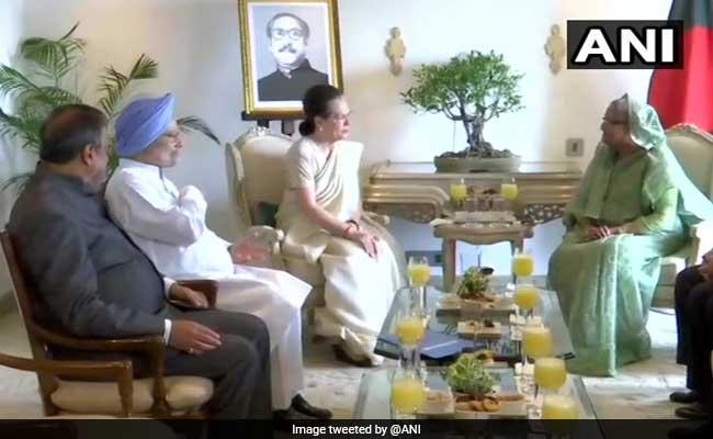 Bangladesh PM Sheikh Hasina Meets Sonia Gandhi And Manmohan Singh