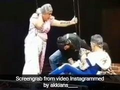 Housefull 4 के प्रमोशन के दौरान इस शो पर हुआ बड़ा हादसा, अक्षय कुमार ने आर्टिस्ट को यूं बचाया...देखें Video