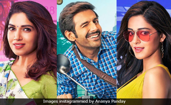 Pati Patni Aur Woh First Look: Kartik Aaryan, Bhumi Pednekar And Ananya Panday Are Quirky x 3