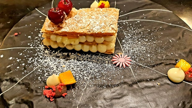 Mille Feuille of Rasmalai & Coconut Cream