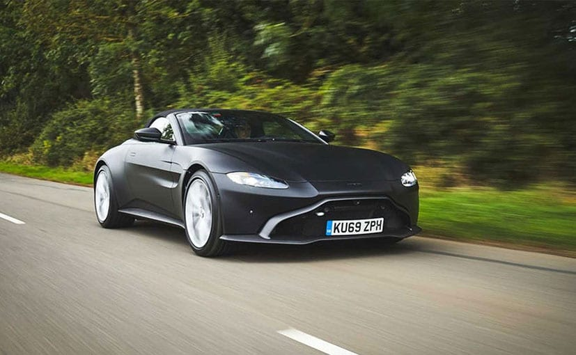 The Aston Martin Vantage Roadster Is powered by a 4.0-litre V8 engine.