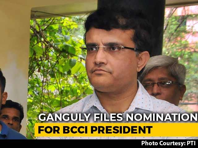Video : Sourav Ganguly To Be Next BCCI President