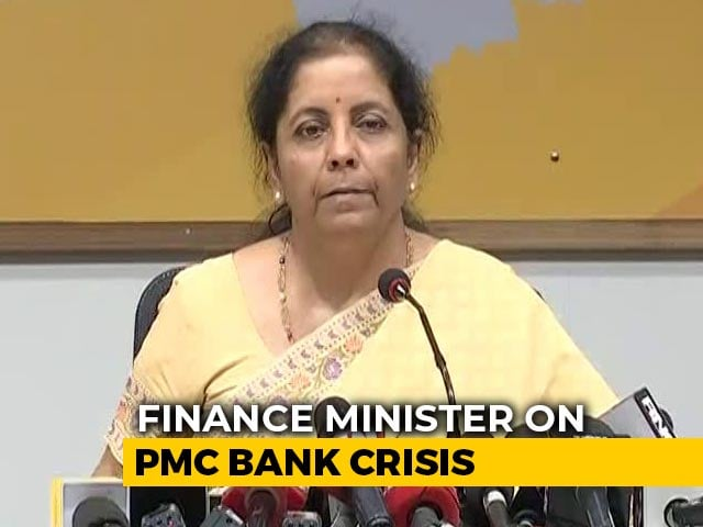 Video : Will Talk To RBI Chief On Distress Of PMC Bank Clients: Finance Minister
