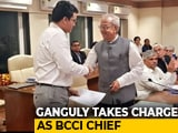 Video : Sourav Ganguly, Former India Captain, Takes Over As BCCI President