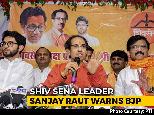 "Video : ""Sena Has Remote Control Of Power In Maharashtra"": Sanjay Raut Warns BJP"