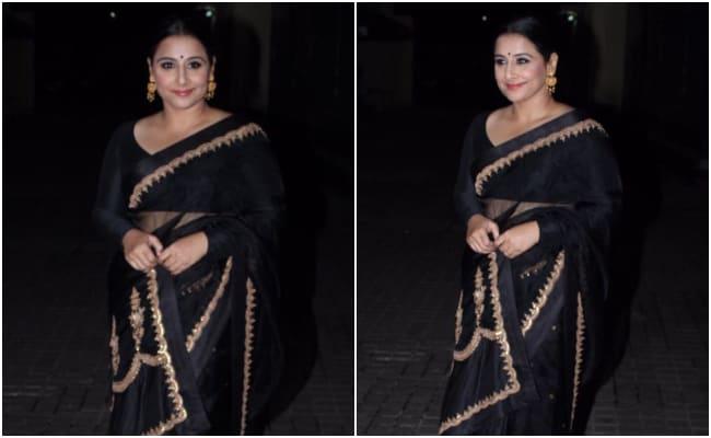 Vidya Balan Gives Us Reasons To Glam Up In A Black <i>Saree</i>