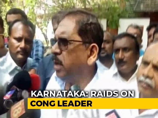 "Video : ""Will Rectify If There's Any Fault"": Karnataka Congress Leader Amid Raids"