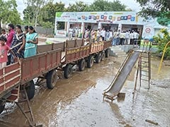 "Annoyed With Muddy Water, Maharashtra Villagers Build A ""Bridge"" To Vote"