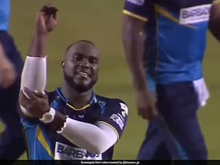 West Indies Bowler Ashley Nurses Kapil Sharma-Inspired Wicket Celebration In CPL Goes Viral. Watch