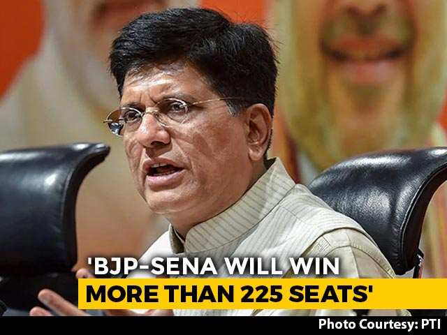 "Video : ""BJP-Shiv Sena Likely To Win 225 Seats In Maharashtra"": Piyush Goyal"