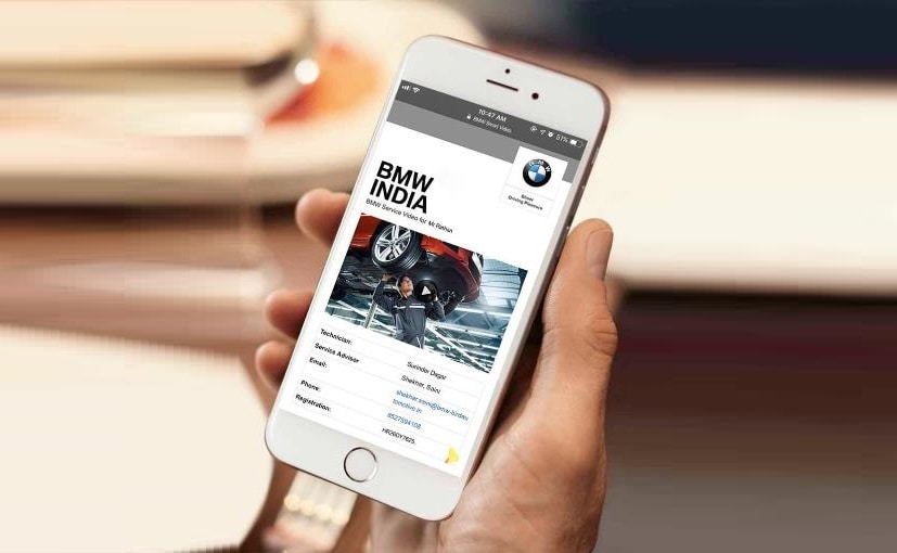 The BMW Smart Video app is claimed to have already benefited more than 10,000 customers