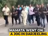 Video : Watch: Mamata Banerjee Jogs 10 km With Entourage In Hills Of Darjeeling