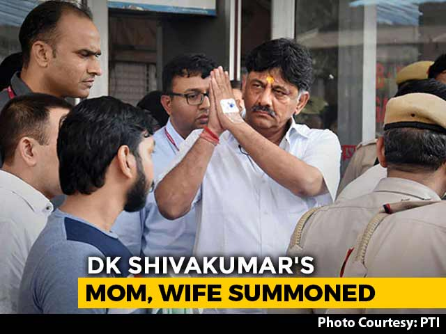 Video: Enforcement Directorate Summons DK Shivakumar's Mother, Wife