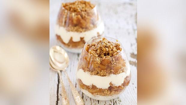 Quinoa Coconut Crumble Custard Pudding