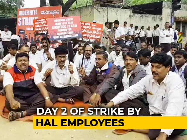 "Video : Over 20,000 HAL Staff On Indefinite Strike As ""Wage Revision"" Talks Fail"