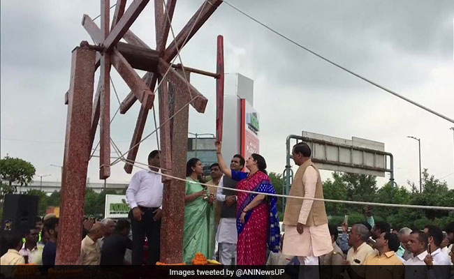 India's Largest Spinning Wheel Made Of Waste Plastic Inaugurated In Noida