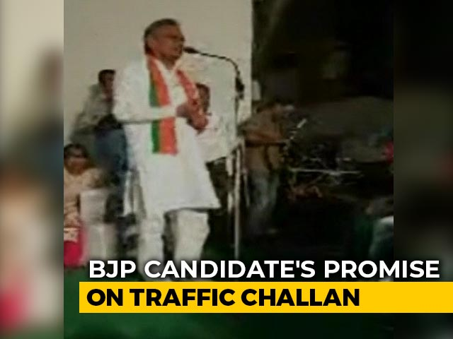 Video : Haryana Elections - 'No Traffic Challan If You Elect Me MLA': BJP Candidate's Promise