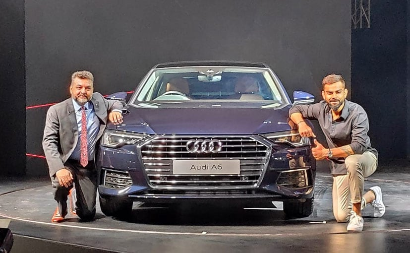 Balbir Singh Dhilon, Head Audi India and Cricketer Virat Kohli at the launch of the A6