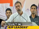 "Video : ""Guilt In BJP Leaders"": Rahul Gandhi Invokes Rafale In Maharashtra Rally"