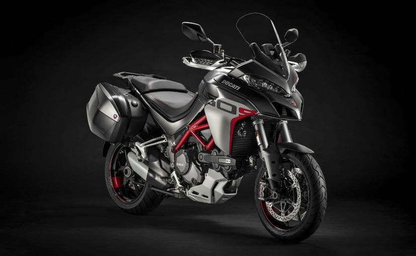 The Multistrada 1260 Grand Tour gets standard panniers, fog lights and centre stand