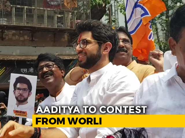 Video : Uddhav Thackeray Joins Son Aaditya, Filing His Maharashtra Poll Papers