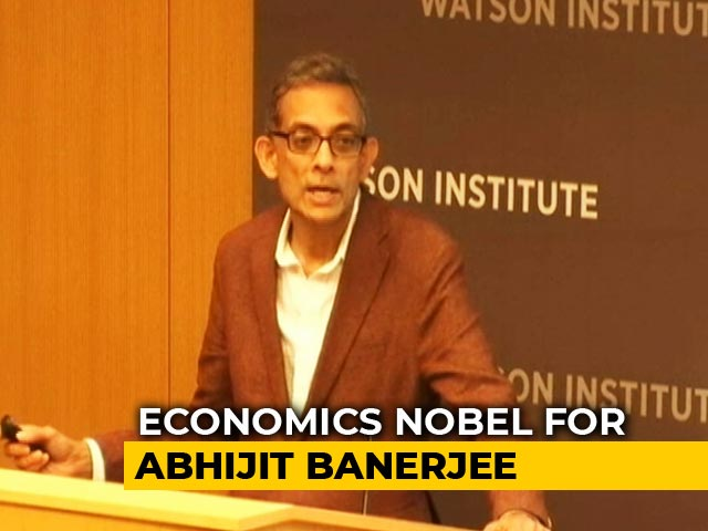 Video : Mumbai-Born Abhijit Banerjee, Wife Esther Duflo Win Nobel For Economics