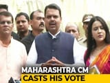 "Video : Festival Of Democracy"": Devendra Fadnavis Votes With His Family"