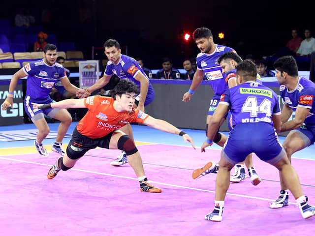 Pro Kabaddi: U Mumba Upset Haryana Steelers 39-33 Ahead Of Playoffs