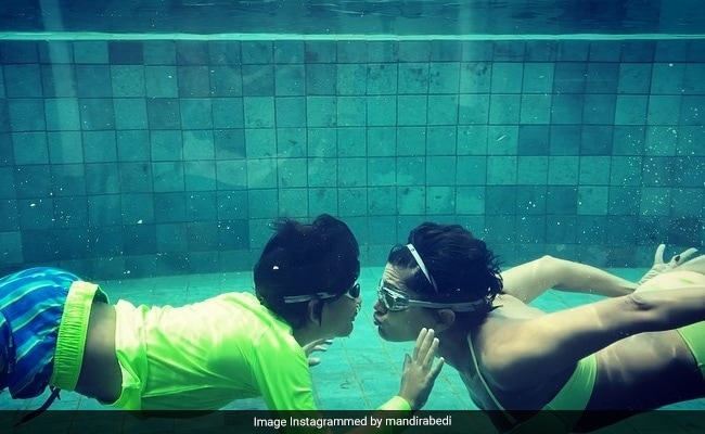 Water Baby Mandira Bedi's Underwater Adventures In Maldives - See Pics