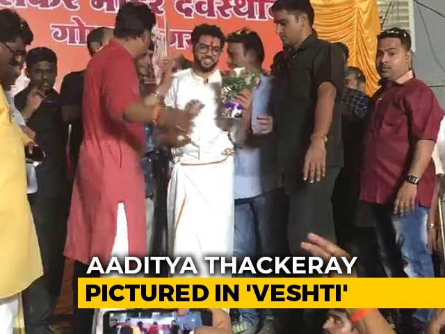 Video : After PM, Shiv Sena's Aaditya Thackeray Seen In <i>Veshti</i> While Campaigning
