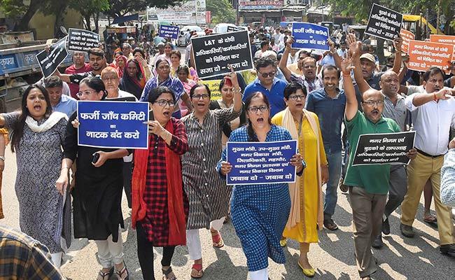Protests Outside Sushil Modi's Home In Patna Over Waterlogging, Garbage