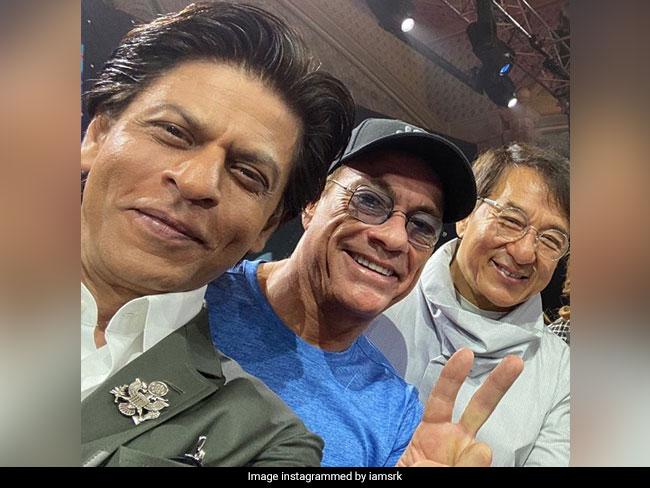 When Shah Rukh Khan Met His 'Heroes' Jean-Claude Van Damme And Jackie Chan. See Pics