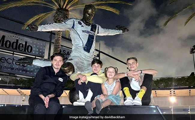 'Pretty Sick': David Beckham's Children See His Statue For The First Time