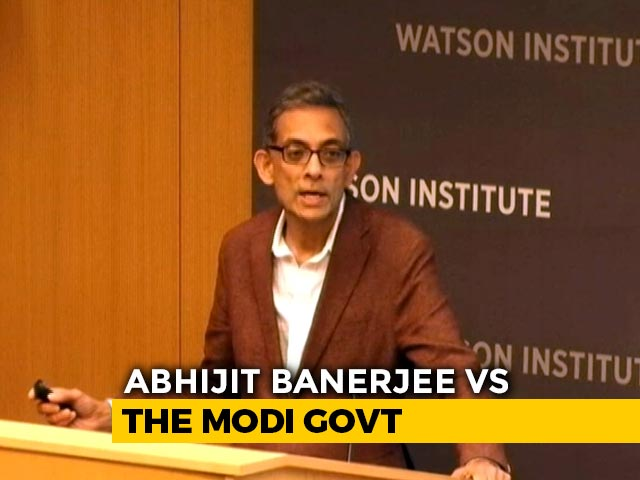 Video : How Nobel Winner Abhijit Banerjee Described State Of Indian Economy