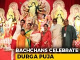 Video : Bachchans Celebrate Durga Puja With Kajol And Other Stars