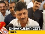 Video : Jailed Congress Leader DK Shivakumar Gets Bail In Money Laundering Case
