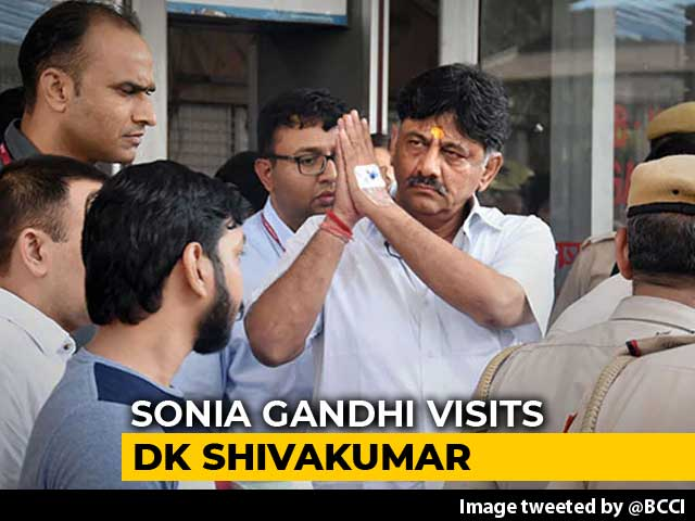 Video : Sonia Gandhi Meets DK Shivakumar In Tihar, Court To Decide On Bail Today