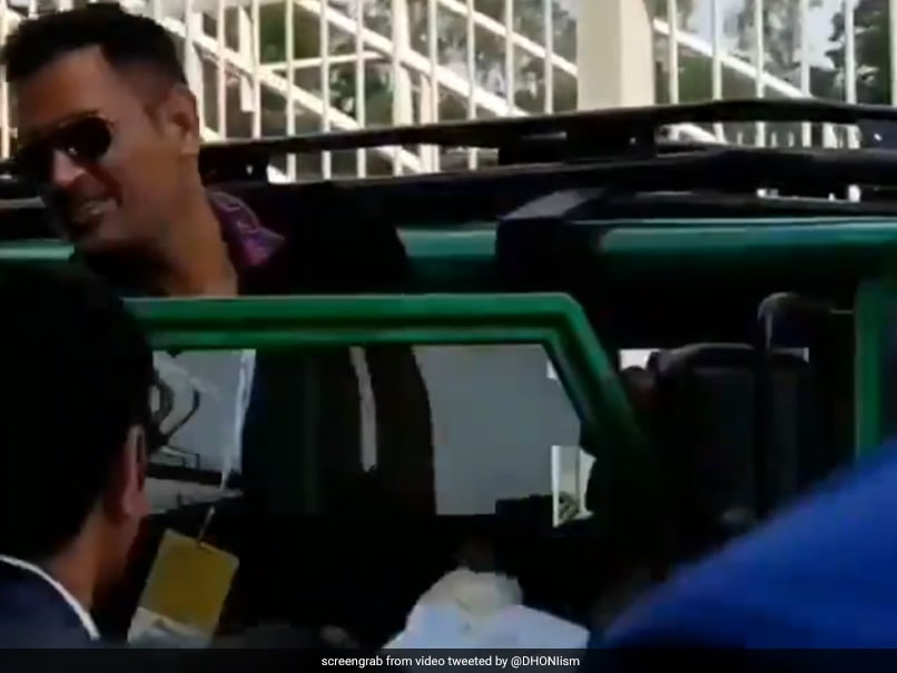 MS Dhoni Chants Break Out As Former India Captain Leaves Stadium In Ranchi. Watch