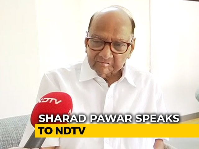 Video : No Question Of Going With Shiv Sena: Sharad Pawar