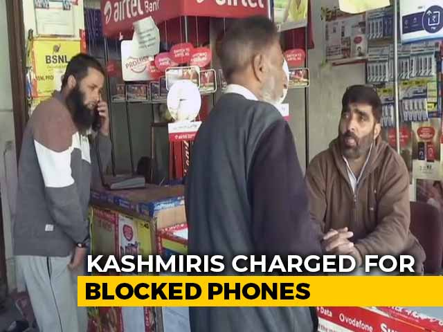 Video : Kashmiris Charged For Blocked Phones, Services Stopped For Unpaid Bills