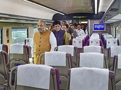 """Big Gift For J&K Development"": Amit Shah Flags Off Vande Bharat Express"