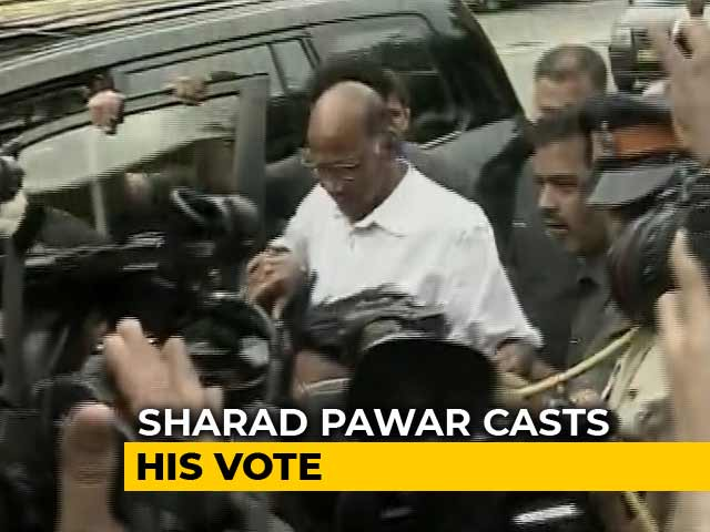 Maharashtra Elections: Sharad Pawar Among Early Voters In Mumbai