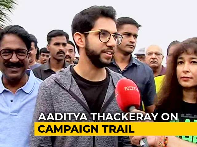 "Video : ""You Are NDTV 24x7, We Work 24x7"": Aaditya Thackeray Campaigns In Worli"